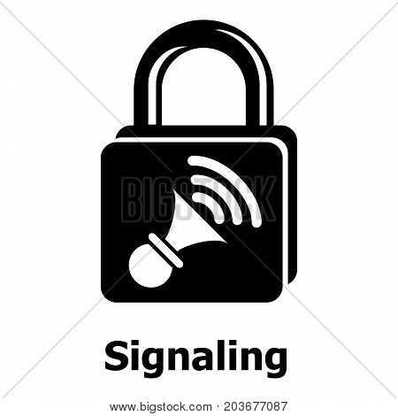 Signaling icon. Simple illustration of signaling vector icon for web