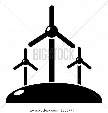 Energy windmill icon. Simple illustration of windmill vector icon for web