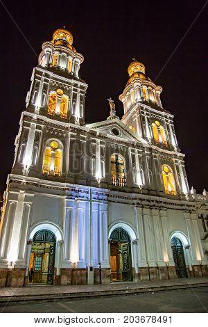 Santo Domingo Church In Cuenca, Ecuador