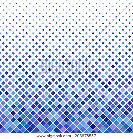 Colored square pattern background design - geometric vector illustration from diagonal squares in blue tones