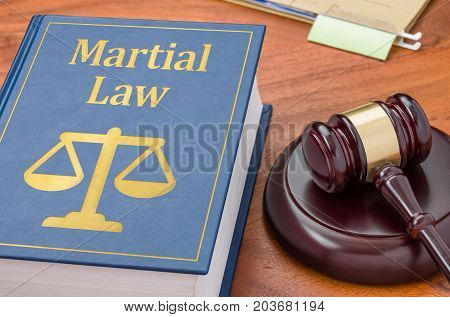 A Law Book With A Gavel - Martial Law