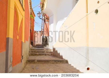 street of Positano - famous old italian resort, Italy