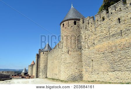 Carcassonne Francia medieval city walled of cultural interest