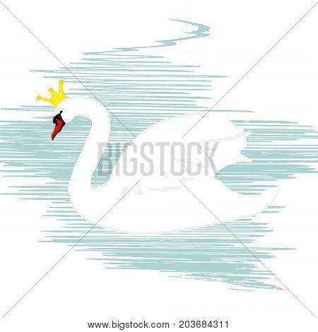 Swan Queen Vector