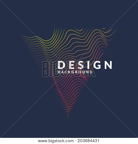 Vector abstract background with a colored dynamic waves, line. Illustration suitable for design