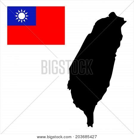 Taiwan Map Vector