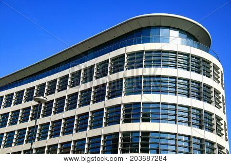 London, UK, May 11, 2008 :  Modern  futuristic architecture business office building in the  heart of the city centre