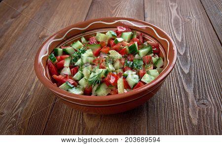 Arab salad , close up homemade meal