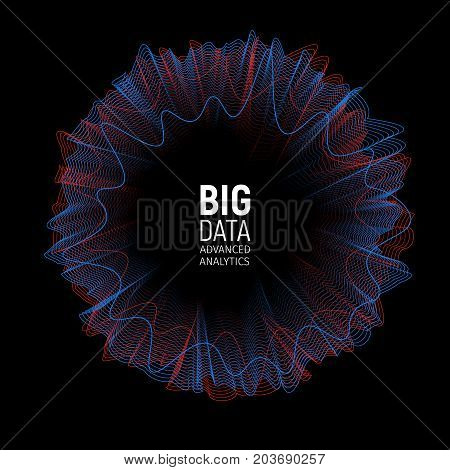 Big data vector visualization illustration. Futuristic Advanced Information analytics abstract Infographic Design