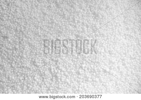Photo of white saltpeter texture consist of many little balls