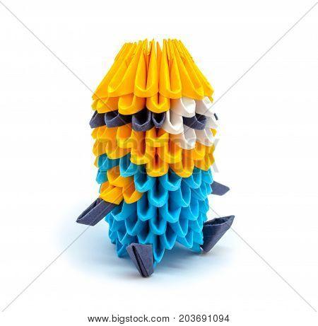 Photo of beautiful origami mignon isolated on white background
