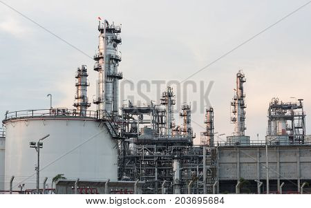 Industrial At Oil Refinery Plant