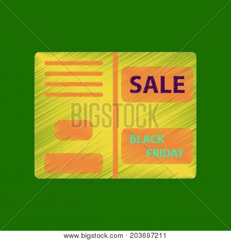 flat shading style icon sale booklet shopping