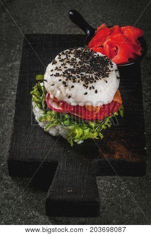 Sushi-burger, Sandwich
