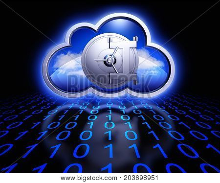 3D rendering of an cloud computing concept
