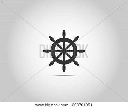 Ship wheel with people as handles - vector
