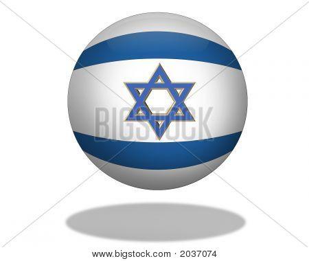 Flag Of Israel Orb
