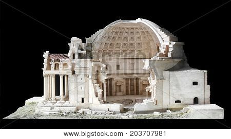 Architectural Scale Model Of The Pantheon In Rome