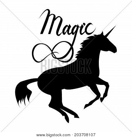 Unicorn Silhouette Vector & Photo (Free Trial) | Bigstock