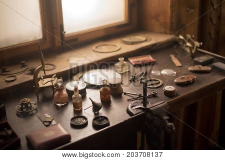 Old Horology Or Watchmakers Laboratory