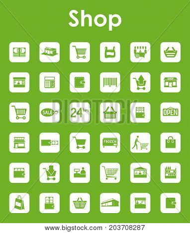 It is a set of shop simple web icons