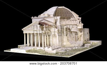 3D Model Of The Pantheon In Rome