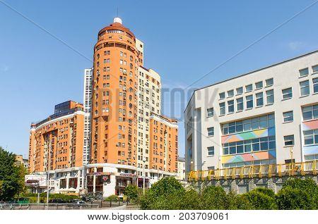High Building And School In Kiev
