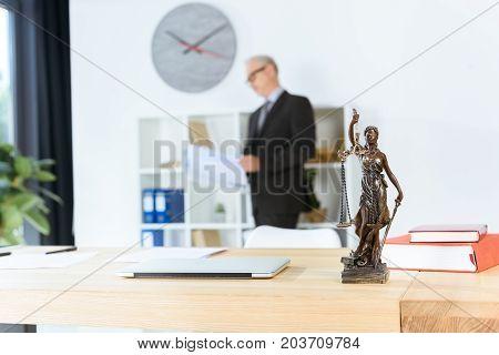 Femida Sculpture On Table