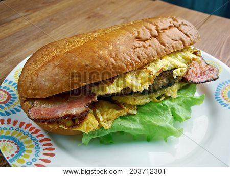 Enormous Omelet Sandwich
