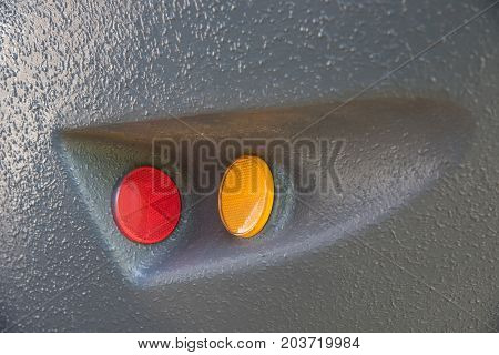 Signal tail light from heavy truck for industrial purposes