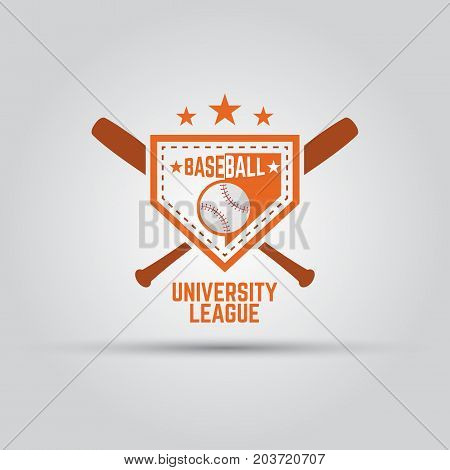 baseball university sport league isolated vector colored badge template