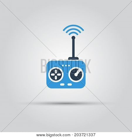 Radio control drones and other models isolated vector flat icon