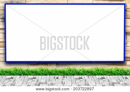 Wall modern style and with white billboards that you can apply to your products.