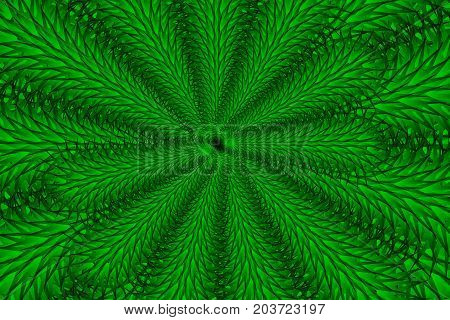 Concentric branches shapes - green , Green branches - vector pattern , Branch in green tone