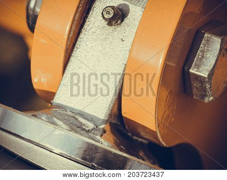 Detailed Closeup Of Shock Absorber, Big Snubber