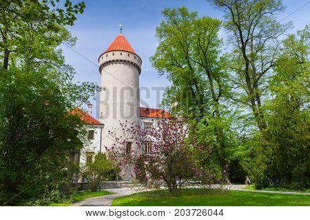 Konopiste, Czech Republic. Castle In Summer Day