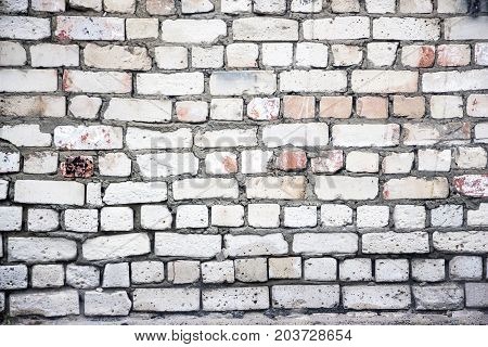 Old brick wall for background. The texture of the brickwork