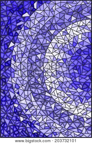Abstract stained glass background gamma bluedifferent tile shades