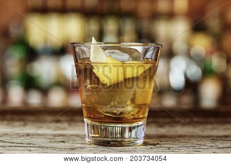 Sazerac - a classic alcoholic cocktail based on cognac or whiskey which is mixed by the build method that is the ingredients are mixed directly in the glass without the use of a shaker