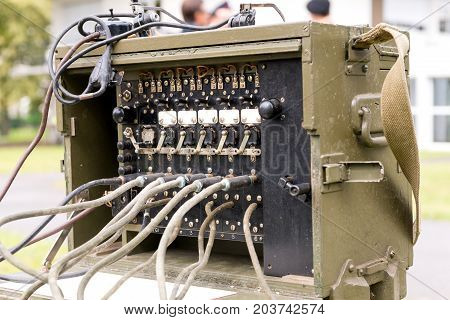 an old military us army radio receiver transmitter