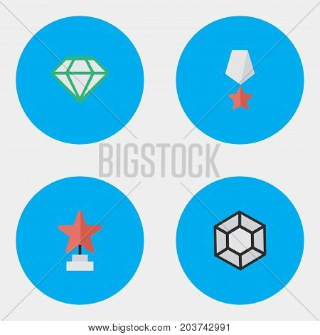 Elements Brilliant, Gemstone, Premium And Other Synonyms Premium, Prize And Award.  Vector Illustration Set Of Simple Prize Icons.