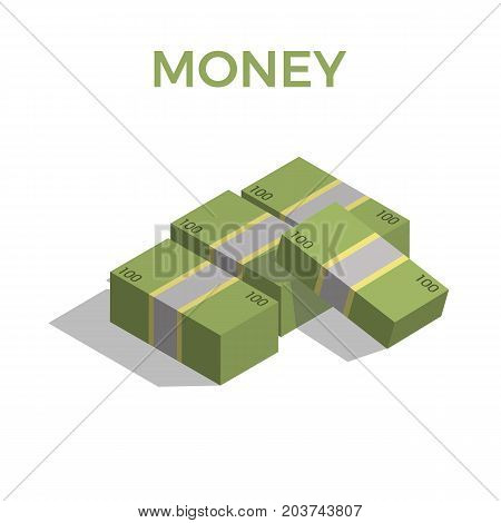 Big stacked pile of cash icon. Big stacked pile of cash for web isolated on white background