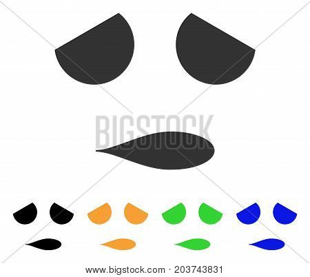 Sad Emoticon Smile icon. Vector illustration style is a flat iconic sad emoticon smile symbol with black, grey, green, blue, yellow color versions. Designed for web and software interfaces.