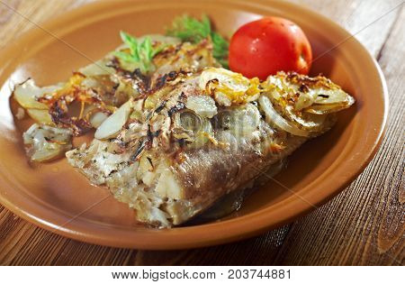 Baked .perch   With Potatoe