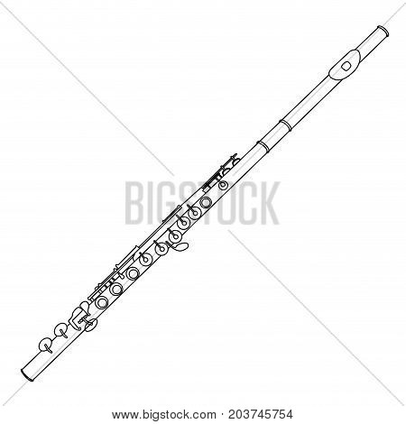 Isolated Flute Outline