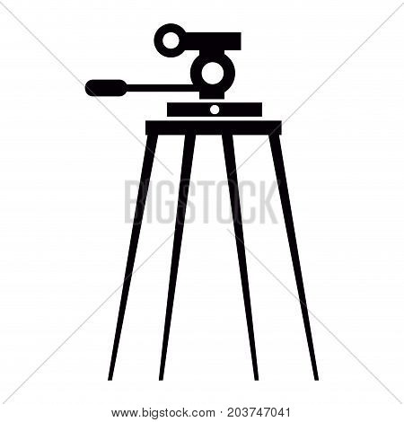 Isolated Tripod Silhouette
