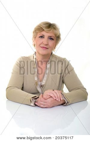 beautiful and healthy mature woman in 50s