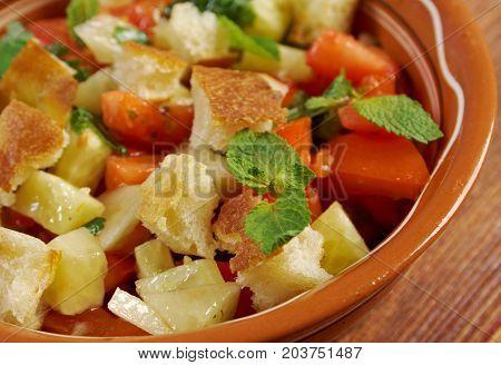 Fattoush - Lebanese Salad.tasty Arabiccuisine , close up