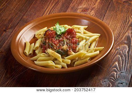 Penne Rigata With Marinara Sauce