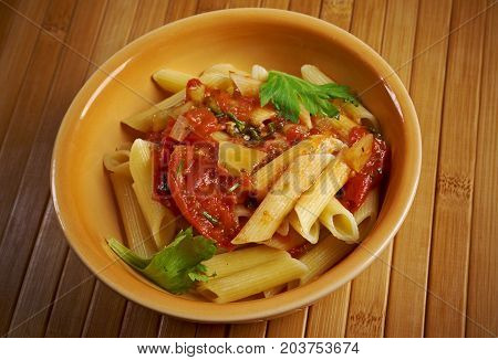 Penne Rigata With Marinara Sauce